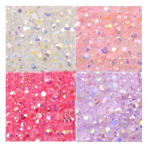 LOVEKITTY --- 800 pcs 3mm Mixed AB Jelly Rhinestones / Gems Round Flatback 14-Facet (High Quality) (Hello Kitty Flatback Resins compare prices)