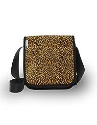 Atrangee Black Leopard City Sling Bag
