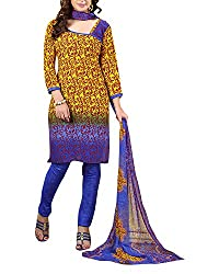 Clothing Deal Women's Cotton Silk Unstitched Dress Material (Yellow)
