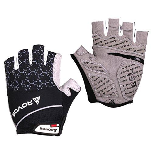 Mountain Bike Gloves Gel Padded Bike Men Gloves Brethable Sports Gloves(Black,Medium) (Cycling Gloves Medium compare prices)
