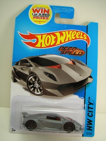 2014 Hot Wheels Hw City - Lamborghini Sesto Elemento (Grey) - Need For Speed - 1