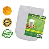 "Most Popular Nut Milk Bag - Best Reusable and Durable 12""x10"" Food Grade Filter - Premium Fine Mesh Nylon Strainer- Excellent for Homemade Almond Milk - Raw Organic Nut Milks - Multi-purpose Kitchen Tool - Vitamix Juicing - Sprouting - Cold Brew Coffee - FREE Recipes and Guides - No Risk Lifetime Money Back Guarantee"