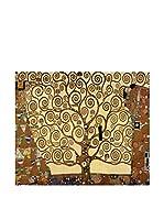 Tele d'autore by MANIFATTURE COTONIERE Panel Decorativo Klimt -Albero Della Vita (Oro)