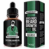 Beard Growth Oil - USA Made Natural Essence (30ml) - Mustache Softener Oil - Promotes Growth, Fuller & Thicker Beard - Leave-in Conditioner (Unscented) (Tamaño: 1 OZ.)