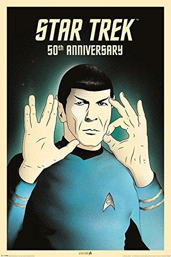 """STAR TREK """"50TH anniversario Spock 5-0"""" Maxi Poster, multicolore"""