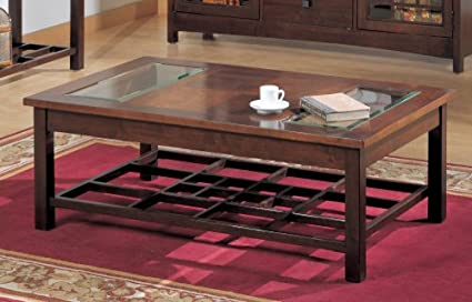 Somerton Home 929-04 Enchantment Cocktail Coffee Table, Natural