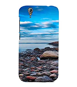 PrintVisa Pebble Beach Design 3D Hard Polycarbonate Designer Back Case Cover for Acer Liquid Jade Z630
