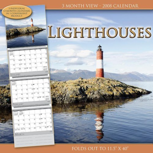 Lighthouses 2008 3 Month View Calendar - Buy Lighthouses 2008 3 Month View Calendar - Purchase Lighthouses 2008 3 Month View Calendar (Time Factory, Office Products, Categories, Office & School Supplies, Calendars Planners & Personal Organizers)