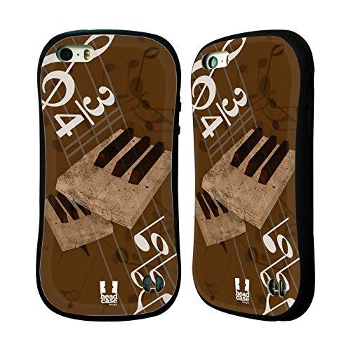 Head Case Designs キーボード ージック・ハーモニー ハイブリッドケース Apple iPhone 5 / 5s / SE