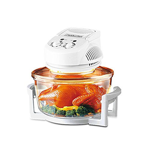 Homeleader Convection Oven with Handle 60 Mins Timer 60-250℃ Thermostat Countertop Convection Oven 3.2 gal, White (Infrared Convection Toaster Oven compare prices)