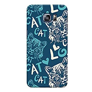 ColourCrust Samsung Galaxy S6 Edge Mobile Phone Back Cover With Cat Love Pattern Style - Durable Matte Finish Hard Plastic Slim Case