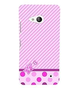 Purple Girly Butterfly 3D Hard Polycarbonate Designer Back Case Cover for Lumia Lumia 550 :: Microsoft Lumia 550