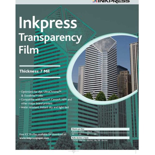 Inkpress Itf111750 Specialty Media Transparency Film 7 Mil 11In. X 17In. 50 Sheets front-66654