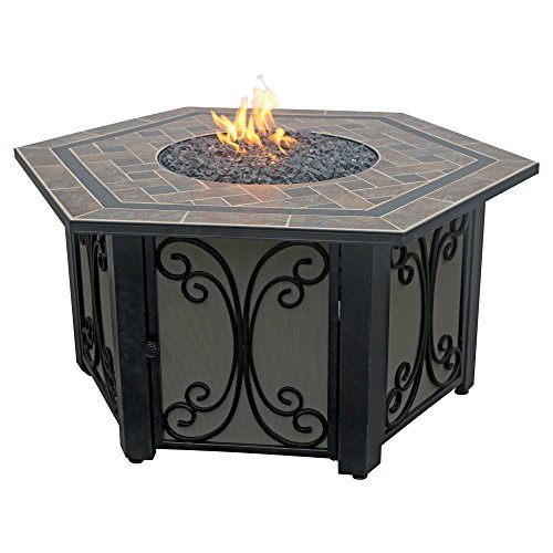Buy Bargain Endless Summer GAD1352SP Hexagon LP Gas Outdoor Firebowl Slate