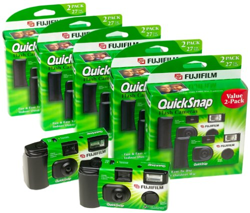 Find Bargain Fujifilm QuickSnap 400 Speed Single Use Camera with Flash (10-Pack)