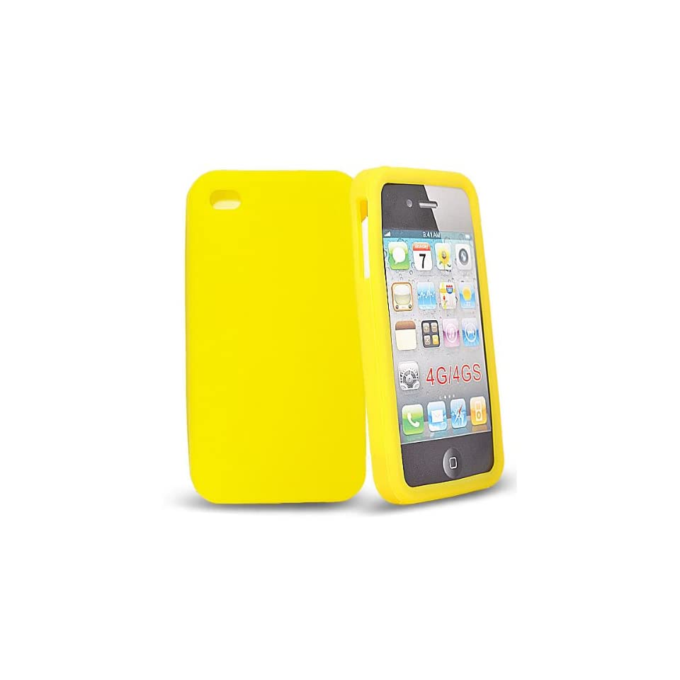 Mobile Palace  Yellow silicone case cover for apple iphone 4s