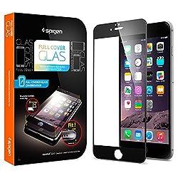 Spigen Oleophobic Coated Tempered Glass for iPhone 6 Plus (Black)