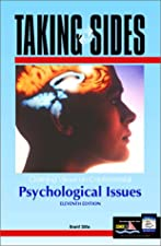 Taking Sides Clashing VIews on Psychological Issues by Edwin Gantt