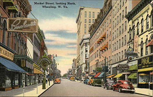 Market Street, looking north, in Wheeling, West Virginia