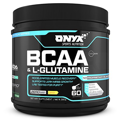 BCAA & L-Glutamine Post-Workout Powder (60 Servings) - Improved Recovery & Endurance to Build Muscle Fast - 2:1:1 Ratio of Branched Chain Amino Acids - Lemon Flavor (Mass Peak Protein Powder compare prices)
