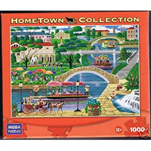HOMETOWN COLLECTION River Walk 1000 Piece Puzzle