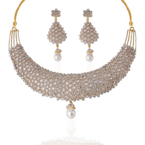 Heena Classic Collection Necklace Set (beige\/sand\/tan)