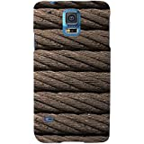 For Samsung Galaxy S5 Neo :: Samsung Galaxy S5 Neo G903F :: Samsung Galaxy S5 Neo G903W Brown Rope ( Brown Rope, Rope, Rope Pattern ) Printed Designer Back Case Cover By FashionCops