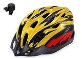お子様の安全に !! 自転車用 ヘルメット 軽量 275g 各色 選択可能 BA18 (黄赤)