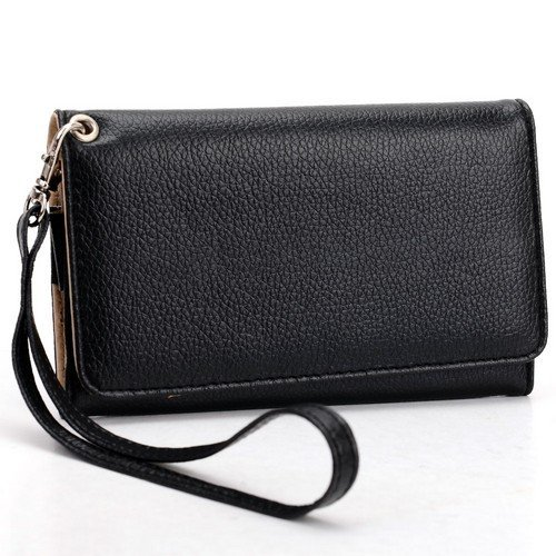 universal-smart-phone-wristlet-wallet-carry-case-purse-cover-w-strap-for-lg-lucid-4g-vs840-black