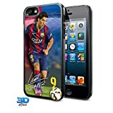 FC Barcelona Official Football Gift iPhone 5 / 5S Hard Case 3D Suarez - A Great Christmas / Birthday Gift Idea For Men And Boys