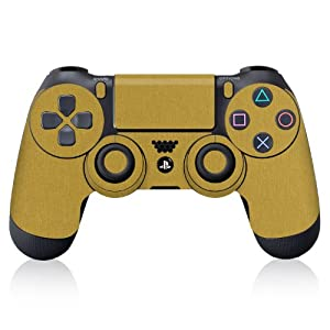 iCarbons Brushed Gold Vinyl Skin for PS4 Dualshock Controller Sony Playstation