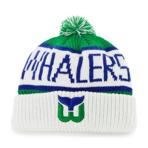 hartford-whalers-white-cuff-calgary-beanie-hat-with-pom-pom-nhl-cuffed-winter-knit-toque-cap
