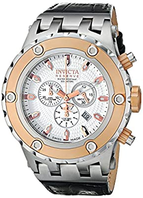 Invicta Men's 10082 Subaqua Reserve Chronograph Silver Textured Dial Watch