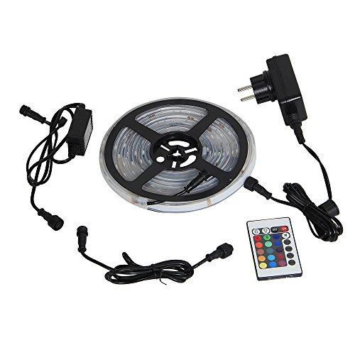 Yorbay-5M-LED-RGB-Unterwasser-Strip-GS-geprft-wasserdicht-IP68-150-5050-SMDs-Controller-mit-24Taste-IR-Fernbedienung-12V-TrafoNetzteil-Komplettset