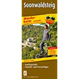 Wanderkarte Soonwaldsteig, Leporello: Mit Ausflugszielen, Einkehr- & Freizeittipps, wetterfest, reißfest, abwischbar, GPS-genau. 1:25000