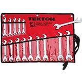 TEKTON 2009 Angle Open End Wrench Set, Metric, 15-Piece