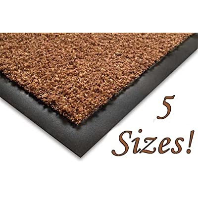 SHERPA Cotton Floor Mat - 50x80cm - Brown - Outdoor and Indoor Use (e.g. Garden, Office, Front Door, Kitchen)