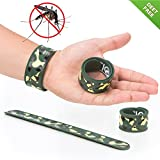 Slap Mosquito Repellent Bracelet by TantiQ - 1 Month Protection - Safe, Natural Pest Control - DEET Free Indoor or Outdoor Insect Control - Kid Safe Insect Repellant - Waterproof, Adjustable Design
