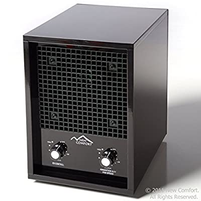 New Comfort Ionic Black Ozone Air Purifier Odor Remover Ionizer Cleans over 3500 sq ft