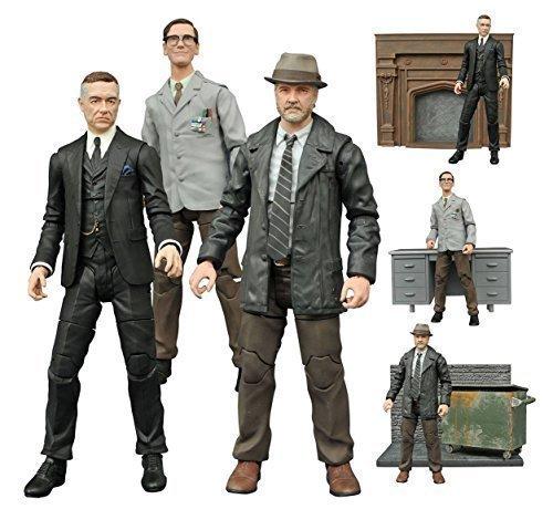 Diamond Select Gotham TV Series Alfred Pennyworth, Edward Nygma, Harvey Bullock Action Figures Set of 3 by Diamond Select