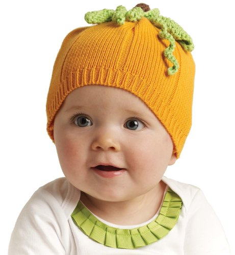 Mud Pie Baby-girls Newborn Pumpkin Hat, Orange, 0-12 Months