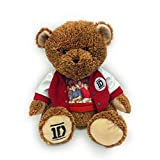 1-Star Entertainment One Direction 22 Inch Two Tone Teddy Bear With Varsity Jacket And Group Photo T-Shirt (Brown)