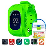 TURNMEON-Smart-Watch-for-Kids-Children-Smartwatch-Phone-with-SIM-Calls-Anti-lost-GPS-Tracker-SOS-GPRS-Bracelet-Parent-Control-for-SmartphoneGreen