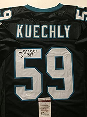 Autographed/Signed Luke Kuechly Carolina Panthers Black Football Jersey JSA COA
