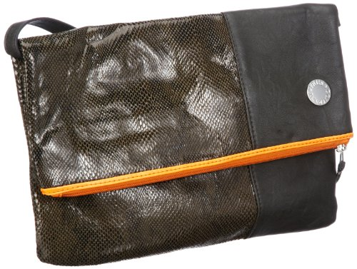 Friis & Company Skiddy Handbag Messenger bags Womens Gray Grau (Grey) Size: 40x15x35 cm (H x W x D) (38x22x15 cm (B x H x T) EU)