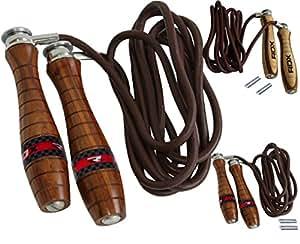 Authentic RDX Corde à sauter pro en cuir, corde ajustable , lestée