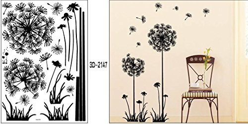 new-diy-kids-removable-vinyl-art-wall-quote-stickers-black-dandelion-flower-plant-tree-large-removab