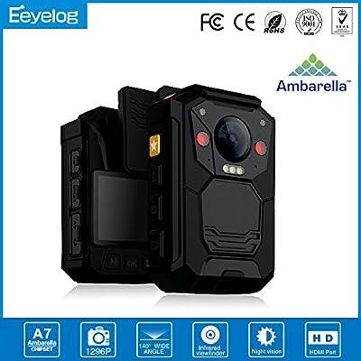 Eeyelog EH05 Full hd 1080p Waterproof Police Video Body Worn Camera with 32gb Built in Memory