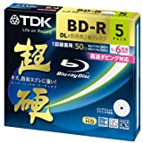 TDK Blu-ray BD-R Disk Super Hard Coating Surface 50GB (DL) 6x Speed 5 Pack (Japan Import)