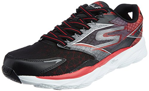 Skechers Performance Men's Go Run Ride 4 Running Shoe, Black/Red, 9 M US